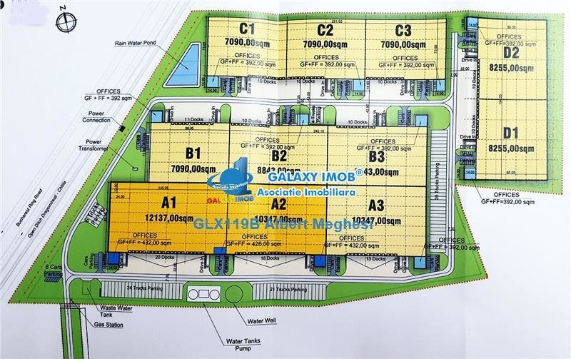 Inchiriere spatii industriale parc logistic 4000-95.000 mp comision 0%,